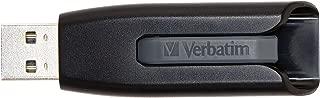 Verbatim 32GB USB 3.0 Store 'n' Go V3 Flash Drive - Cap-Less & PC/Mac Compatible - Gray