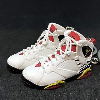 Pair Air Jordan VII 7 Retro Premio BIN 23 OG Sneakers Shoes 3D Keychain 1:6 Figure