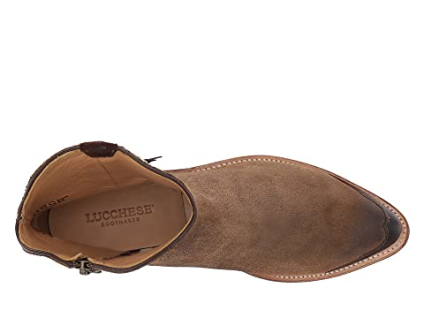 Antique Cuir Suedeolive Lucchese Selle Leatherbutterscotch Isabel TtwE5Uvx