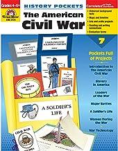 Evan-Moor EMC3724 History Pockets: The American Civil War Book, Grades 4-6+