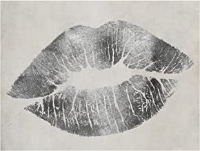 Hollywood Kiss Silver by Color Bakery, 18x24-Inch Canvas Wall Art