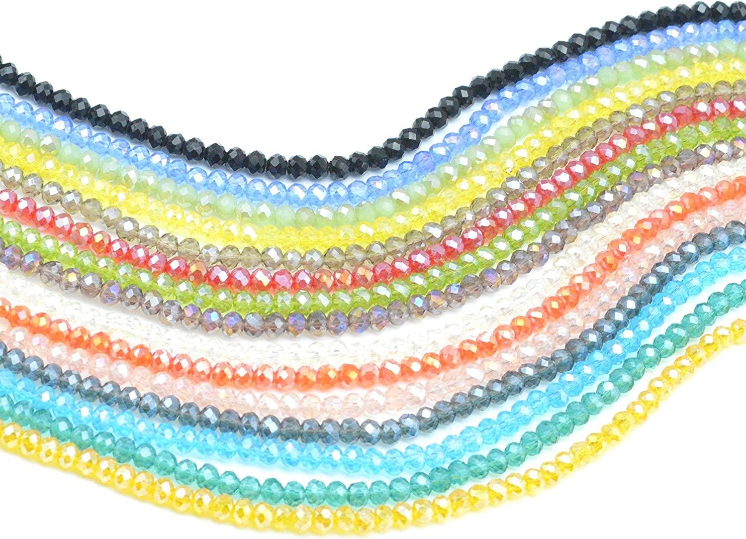 40 Glass Crystal BLUES MIX Faceted Briolette 12x6mm Teardrop Beads