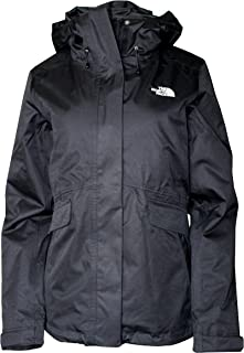 The North Face Women's Monarch Insulated Ski Triclimate 3 in 1 Winter Hooded Jacket (TNF Black/TNF Black/White, L)