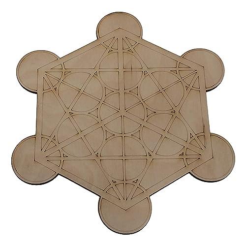 a49432f4c0 ... Indigo Water Bottle. NewAge Designs Large Crystal Grid Plate Merkaba Metatron's  Cube Sacred Geometry Healing Spiritual Reiki Metaphysical Wooden