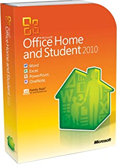 OLD VERSION Microsoft Office Home and Student 2010 Family Pack, 3PC (Disc Version)