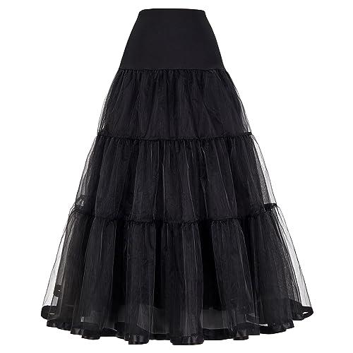 4d165000a8 GRACE KARIN Women Wedding Underskirt Petticoat Bridal Evening Long Crinoline  Half Slips 7Colors S~Plus