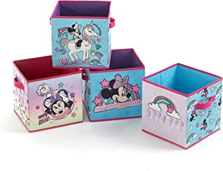Disney Minnie Mouse 4 Pack Collapsible Storage Cube Set