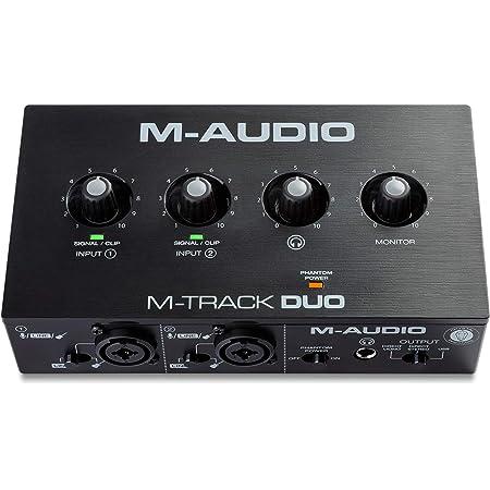 M-Audio レコーディング、ストリーミング、Podcast用USBオーディオインターフェース 1/4デュアルXLR入力端子、LINE/インストゥルメント入力端子搭載、音楽制作ソフトウェア付属 M-Track Duo