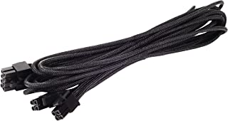 Silverstone SST-PP06B-EPS75 - Cable enfundado para FA de 75cm EPS/ATX 8pin(4+4), Negro