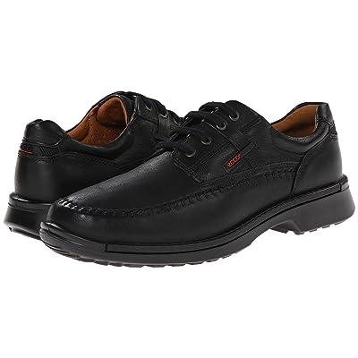 ECCO Fusion Moc Tie (Black Leather) Men