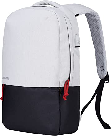 ff4f038a4b50 BOLANG Water Resistant Laptop Backpack with USB Charging Port Travel School  Daypack 8849 (White