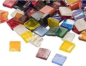 Mozaïek tegels - 1000-Pack glas mozaïek stukken, mozaïek chips, gekleurd glas mozaïek, getextureerd glas mozaïek, voor dec...