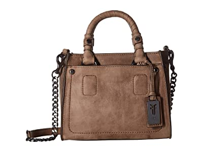 Frye Demi Mini Satchel (Grey Smooth Pull Up) Satchel Handbags