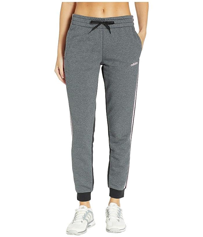adidas Essential French Terry Pants (Dark Grey Heather/Black) Women