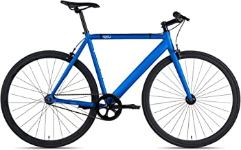 6KU Track Fixed Gear Bicycle, Navy Blue/Black, 47cm