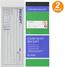 Emraw 2-Part Carbonless Cash or Rent Receipt Book General Purpose Sales Money Book White and Canary Contractor's Invoice Proposal Form Book Sales Tickets Pack of 2