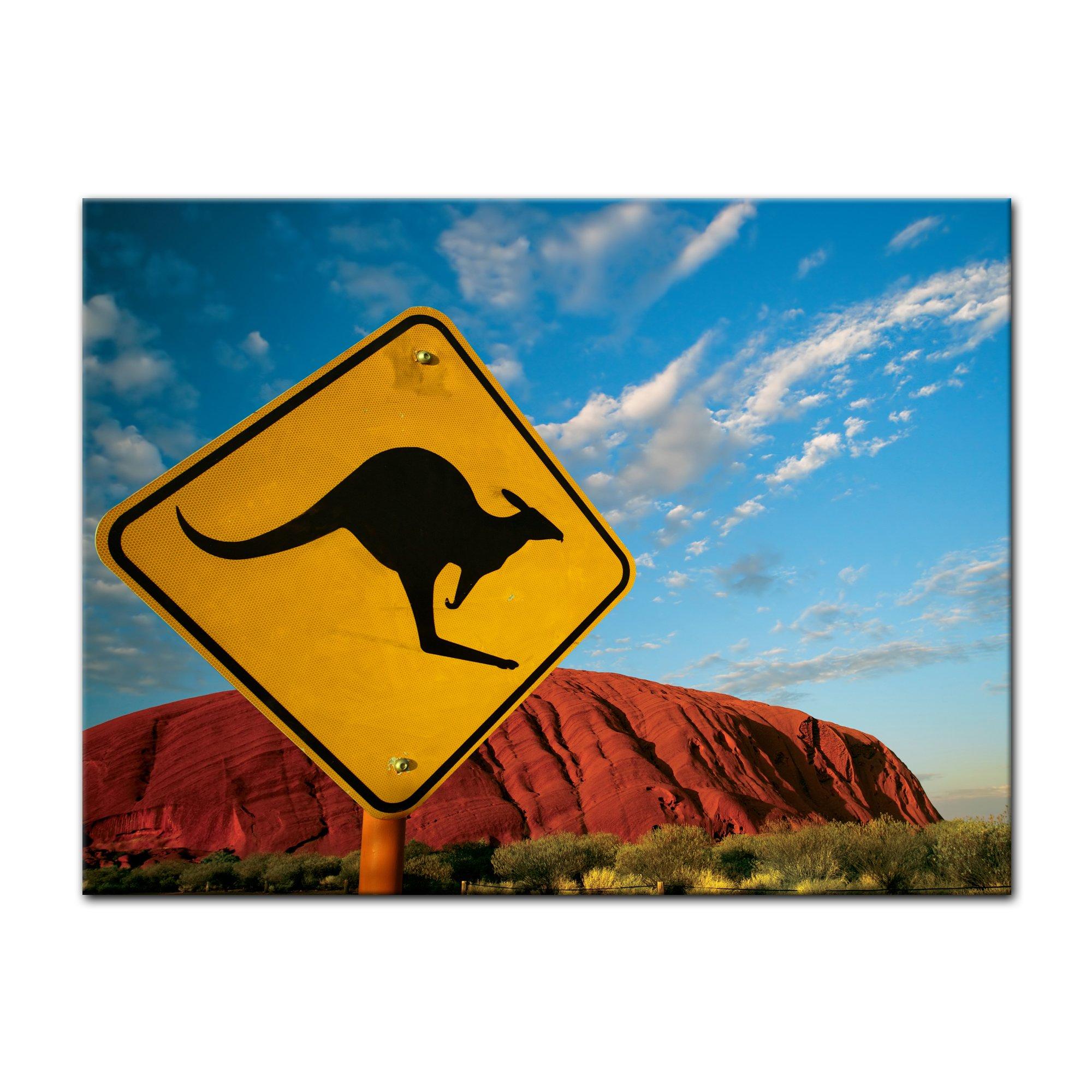 Bilderdepot24 Cuadros en Lienzo Ayers Rock - Australia 40x30 cm - Enmarcado Listo Bastidor Imagen. Directamente Desde el Fabricante: Amazon.es: Hogar