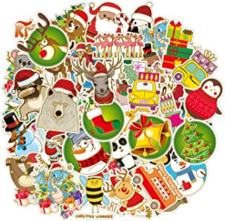 Christmas Stickers for Water Bottles Big 50 Pack, Cute Funny Stickers for Kids,Teens,Girls,Adults   Perfect for Waterbottle,Laptop,Phone,Hydro Flask,Gift Boxes, Viny Stickers Waterproof (Christmas-B)