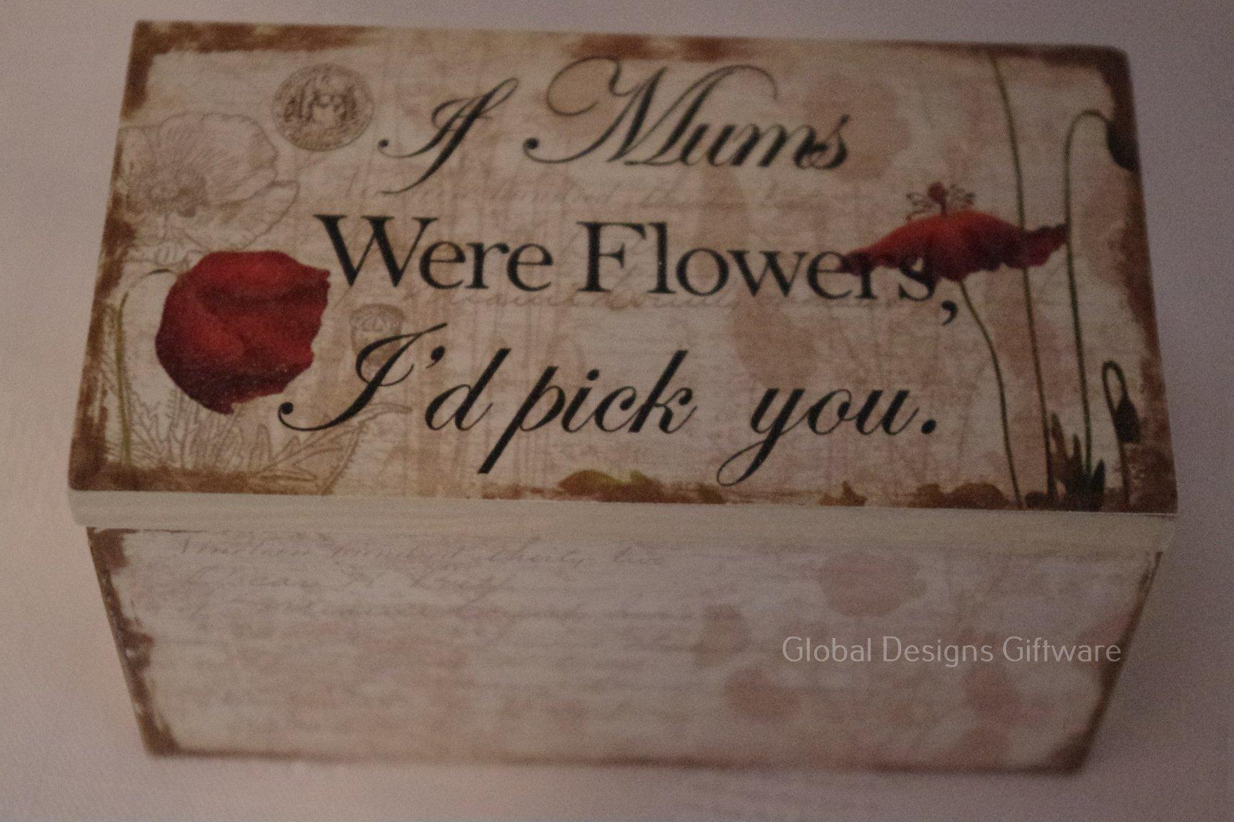 Global Designs Caja de Recuerdos pequeña para mamá, Regalo de cumpleaños para Madre SG1683: Amazon.es: Hogar
