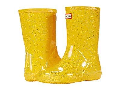 Hunter Kids Original First Classic Giant Glitter Wellington Boots (Toddler/Little Kid) (Helios) Girls Shoes