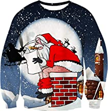 Fanient Women Christmas Ugly Sweaters Xmas Funny Print Long Sleeve Pullover Sweater Jumper Sweatshirts