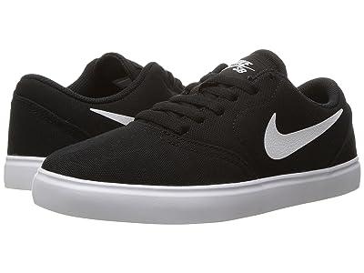 Nike Kids Check Canvas (Big Kid) (Black/White) Boys Shoes