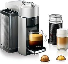Nespresso by De'Longhi ENV135SAE Vertuo Evoluo Coffee and Espresso Machine Bundle with Aeroccino Milk Frother by De'Longhi, Silver