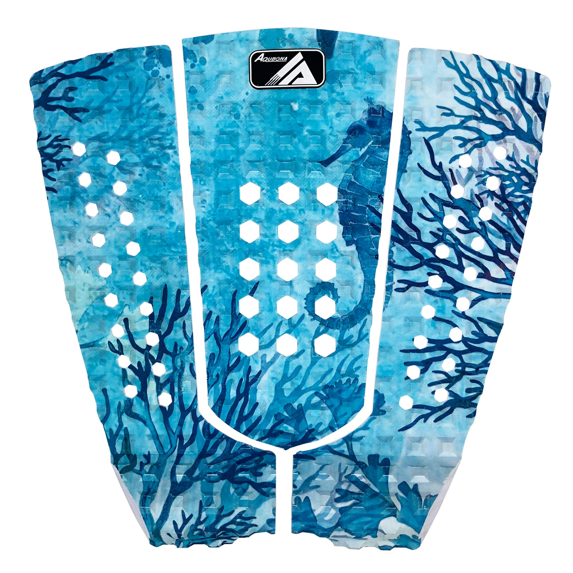 Surfboards 3 Piece Stomp Pad Surfboard EVA Traction Pad with 3M Adhesive Professional Tail Pad//Applies All Boards Shortboards Longboards Skimboards//Multiple Color Choices