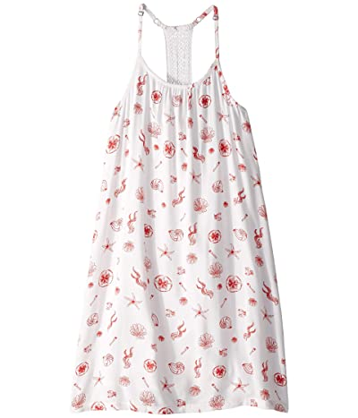 Roxy Kids The Little Mermaid Exotic Nature Dress (Big Kids) (Bright White Ocean Treasure) Girl