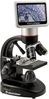 Celestron – PentaView LCD Digital Microscope– Biological Microscope with a Built-In 5MP Digital Camera – Adjustable Mechan...