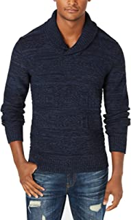 Mens Sweater Midnight Heather Shawl Collar