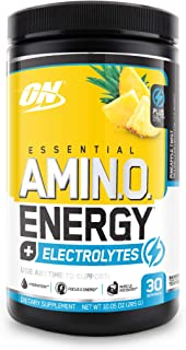 Optimum Nutrition Amino Energy + Electrolytes - Pre Workout, BCAAs, Amino Acids, Keto Friendly, Energy Powder - Pineapple ...
