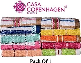 Casa Copenhagen Face Towels Set - 1 (Multi Colour)