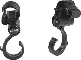 Drive Medical Walker Rollator Accessory Hooks, Black