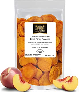 Traina Home Grown California Extra Fancy Dried Peaches – No Sugar Added, Non GMO,..