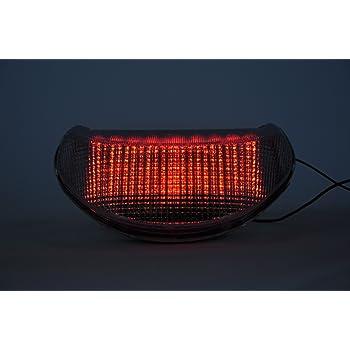 Topzone Lighting Clear Lens Motorrad Led Rücklichter Rücklicht Mit Integrierten Blinker Lampe Indikatoren Für Kawasaki 2013 2015 Zx 6r 636 Z800 Z125 Auto