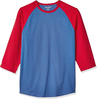 Amazon Essentials Men's Regular-fit 3/4 Sleeve Baseball T-Shirt