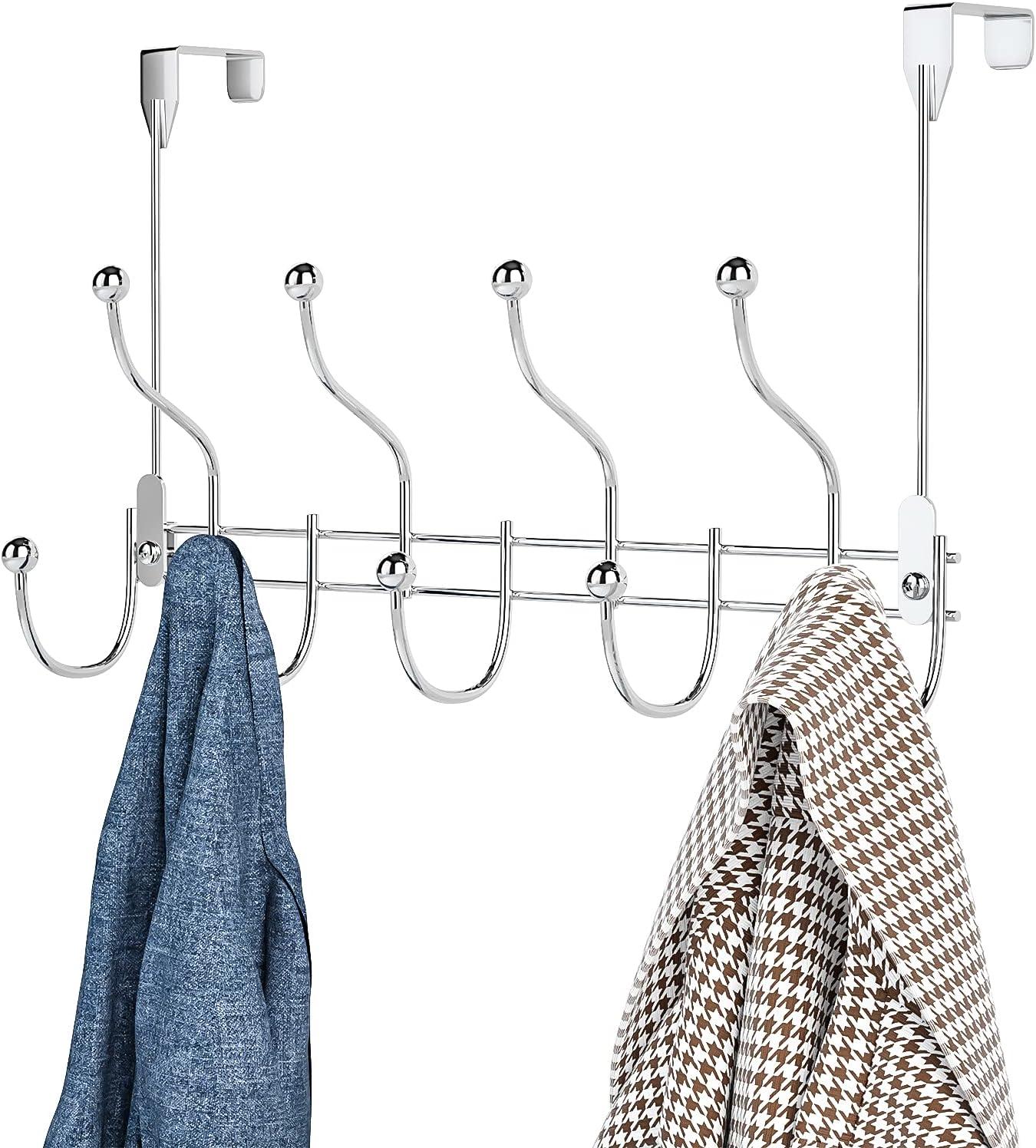 overseas Over Door Towel Rack Translated Hook Hanger 9 with C Hooks Heavy-Duty