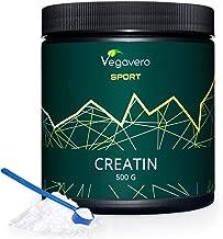 CREATINA Monoidrato in POLVERE Vegavero® Sport | 500 g con Dosatore | PURA e Micronizzata 200 Mesh | Ottima Solubilità | Vegan