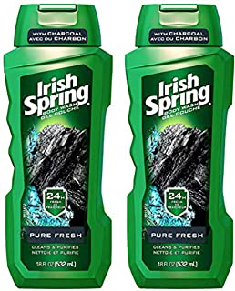 Irish Spring Body Wash With Charcoal Pure Fresh - 18 oz, Pack of 2