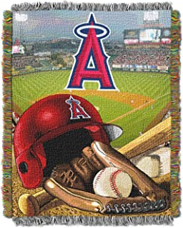 Officially Licensed MLB Home Field Advantage Woven Tapestry Throw Blanket, Soft & Cozy, Washable, Throws & Bedding, 48