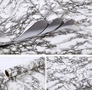 Wallpaper for Bathroom Kitchen Cupboard Table Wall Contact Paper PVC Waterproof Wall Stickers Dark Gray 60cmX3m