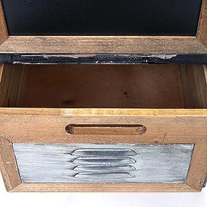 Mendler Placard de pharmacien HWC-A43, Commode, Bois Massif de Sapin, Vintage, Style Shabby 90x84x32cm
