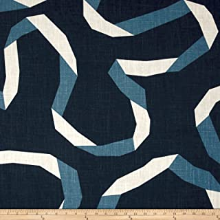 Dwell Studio 0547937 Vento Ribbon Admiral Fabric by The Yard,