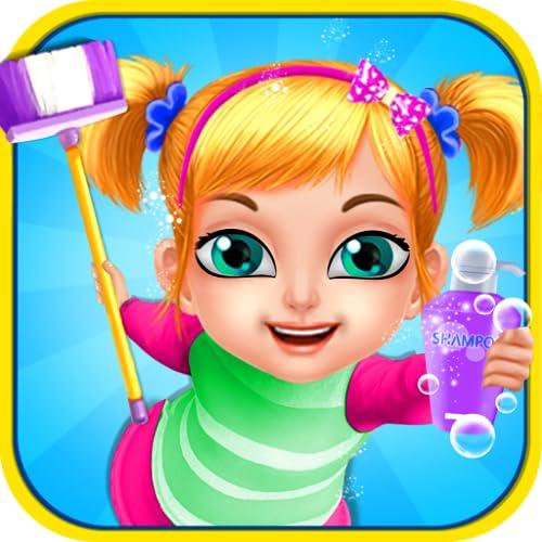 Nettoyage la maison Nettoyer - Un jeu gratuit, difficile, amusant pour aider à différentes activités de la maison.