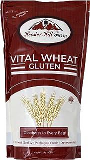 Hoosier Hill Farm Vital Wheat Gluten, High in Protein, NON-GMO 2 lb Great for Vegan recipes, Seitan and Keto Bread, Pizza ...