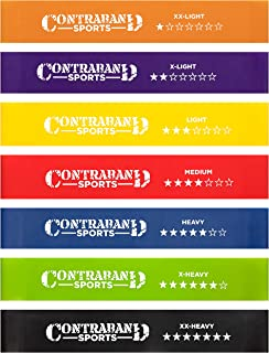 Contraband Sports 7439 Elastic Loop Resistance Band Set - Exercise Latex Workout Hip Bands for Glutes Booty & Legs - Perfe...