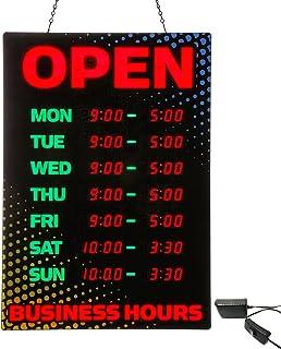 لافتة فنية مفتوحة مع ساعات عمل، أسود/أصفر/أزرق (34110)، 26 × 18