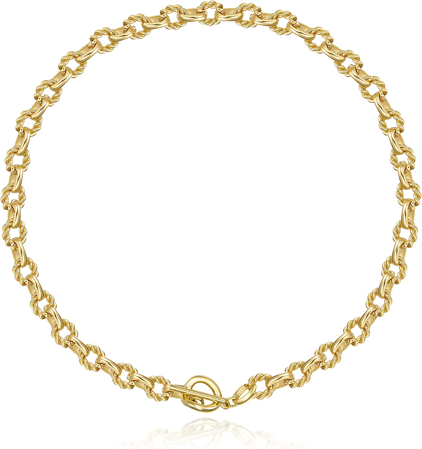 ACC PLANET Statement Max 41% OFF Gold Plated Super-cheap 4mm Thick Oval Chain Link Choke