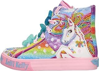 Lelli Kelly Sneakers Mid in Tela Tema Unicorno